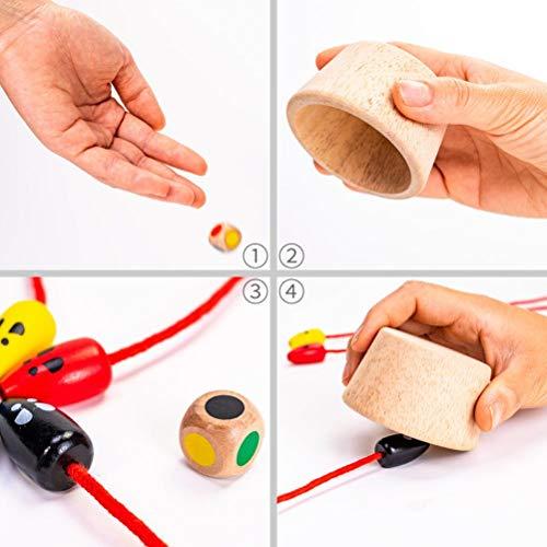 Kylewo Juego de ratón de Madera, Juego de Captura de ratón de Madera, Juguetes de Madera interactivos para niños creativos, Juego de Escritorio de ratón para atrapar Gatos, diseño cognitivo