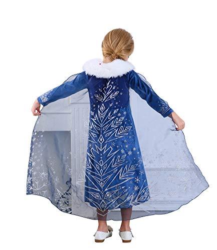 Le SSara Deluxe Nieve Princesa Aventura Traje Disfraces (130, E52-blue)