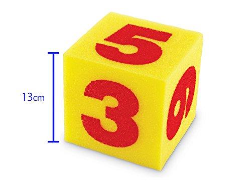 Learning Resources- Dados Gigantes de números de Espuma Blanda (Set de 2), Color (LER0412)