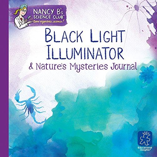 Learning Resources- Lámpara de luz Negra y Cuaderno para Registrar los misterios de la Naturaleza de Nancy B's Science Club, Color (EI-5355)