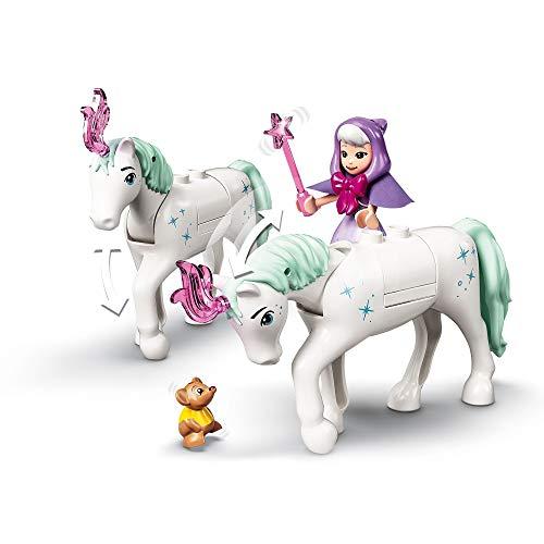 LEGO 43192 Disney Carruaje Real de Cenicienta, Juguete de Construcción con 2 Mini Muñecas y Figura de Caballo