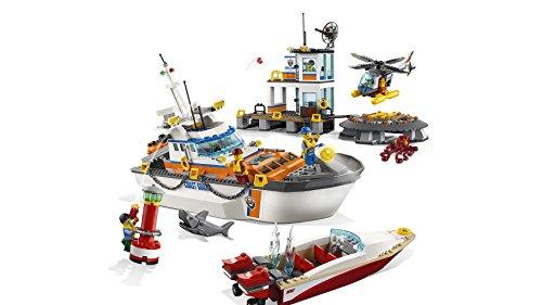 LEGO City - Guardacostas: Cuartel General, Juguete de Construcción, Aventuras de Rescate Marítimo (60167)
