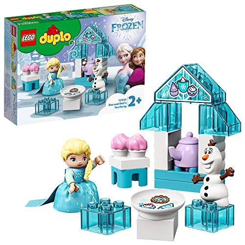 LEGO DUPLO Princess - Fiesta de Té de Elsa y Olaf, Juguete Inspirado en la Película Frozen II, Incluye dos Personajes de la Película para Recrear las Aventuras, A Partir de 2 Años (10920)