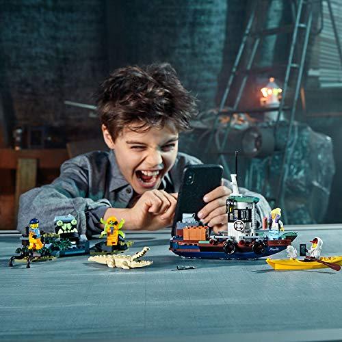 LEGO - Hidden Side Camaronero Encallado Juguete de construcción con realidad aumentada, incluye barco de pesca y un cocodrilo, Novedad 2019 (70419)