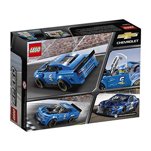 LEGO Speed Champions - Deportivo Chevrolet Camaro ZL1, juguete divertido de construcción de coche deportivo de carreras (75891)