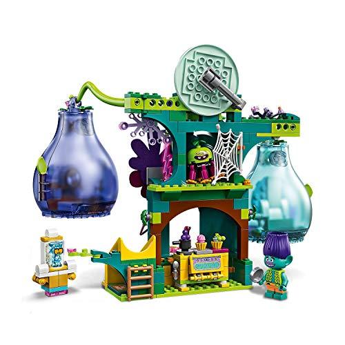 LEGO Trolls - Fiesta en Pop Village, Set de Construcción de Casa de Muñecas Inspirado en la Película de Animación, Incluye Minifigura de Poppy, Branch, Cooper y Guy Diamond (41255)