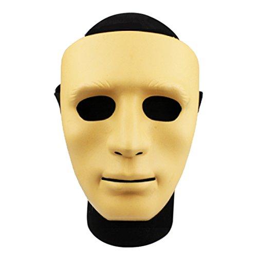 Likeluk WST Airsoft Cara Máscara Protección Máscara Accesorios para Nerf CS Cosplay Halloween Wargame, Amarillo, 22 * 15 * 10cm