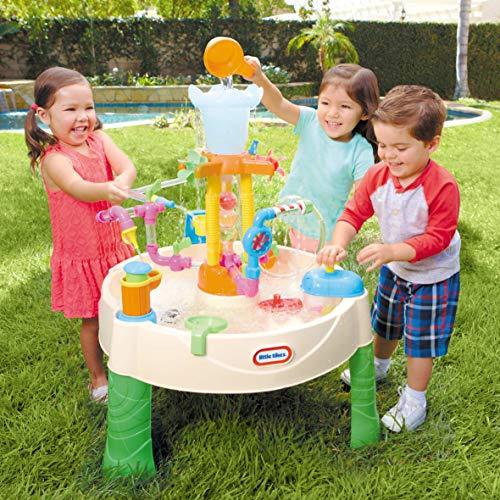 little tikes Fountain Factory Mesa de Agua - Juego para Niños - Seguro y Portátil - Fomenta el Juego Creativo