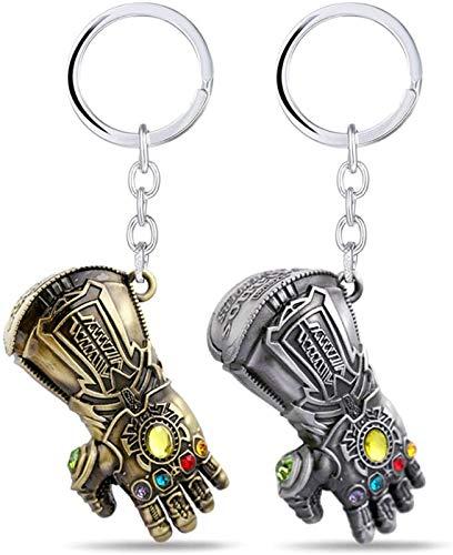 Llavero de guantelete de infinito, accesorios de guerra Thanos War Series Superhéroe, colgante de metal para los fans de Marvel, Silver (Plateado) - MLIAN