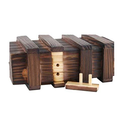 Mágica Caja De Madera Puzzle Box Secreto Compartimiento Cerebro Teaser Caja para Adultos Cajón Secreto Seguro Adicional