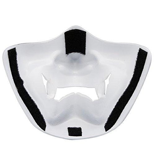 Máscara de media cara de terror Diablo Sonrisa del campo de batalla Guardián Prajna Máscara para fiesta Halloween Cosplay