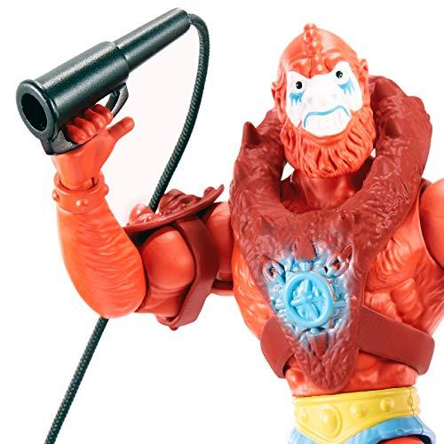 Masters of the Universe Origins Beast Man, figura de acción para niños y niñas +6 años (Mattel GNN92)