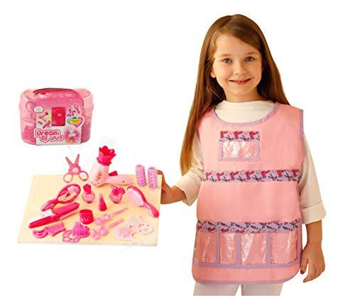 Matissa y Dad 20 Piezas Juego de Accesorios y Disfraces de Peluquero para niños, niñas y niños
