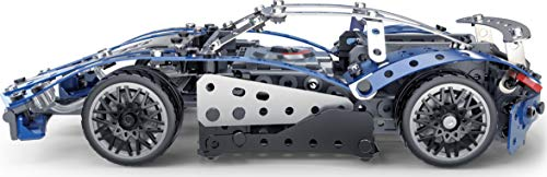 MECCANO Meccano-MECCANO-6044495-Meccano Model Set Rennwagen – Konstruktionsspielzeug-Modellbau – Bauen mit Werkzeug 6044495 25-Juguete de construcción con Herramientas, Multicolor (Spin Master