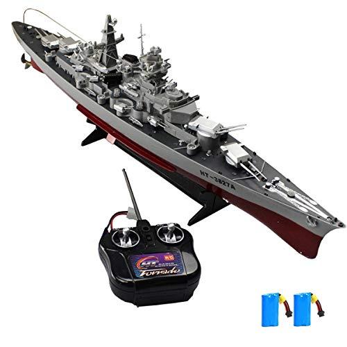 MEILINL RC Barco RC Teledirigido Mini Buque De Guerra 2.4Ghz De Control Remoto Militar De Guerra Eléctricos Mini Portaaviones para Niños Juguete Piscinas Y Lagos 6 mph