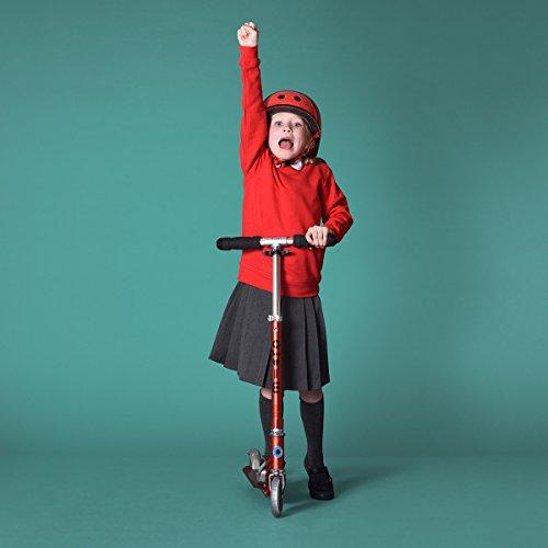 Micro® Sprite, Original Design, Patinete 2 Ruedas Plegable, +6 Años, Peso 2,85kg, Carga Máx 100Kg, Aluminio, Plataforma Antideslizante, Rodamientos ABEC 9 (Rojo)
