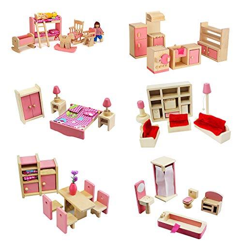 MIKI-Z 1 Set 1:12 Casa de muñecas en Miniatura Muebles de Madera Juego de niños Juguetes Regalo para Dollhouse Decoración de la Escena de la Vida,1piece,Random Deliver