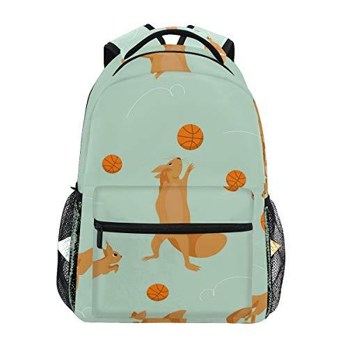 Mochila Casual de LORONA con diseño de Ardillas para la Escuela, para Viajes, Senderismo, Camping, para niñas, niños, Hombres y Mujeres