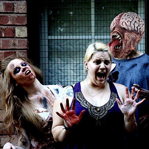 molezu Resident Evil Zombie Mask Licker Mask, Horror Long Tongue Brain Burst Mask para la Fiesta de Disfraces de Halloween