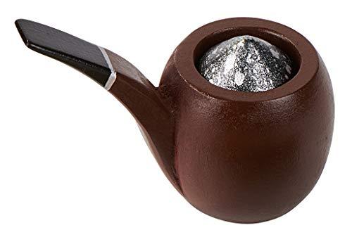 Moses- Sherlock Holmes – El Silbato Fumador | Puzle de Madera | con 20 molinillos de cerillas difíciles, Color carbón (92102)