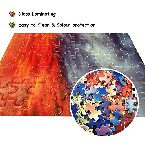 N\A 500 Piece Jigsaw Puzzles For Adult - For Adult Cielo Azul Nubes Blancas Sol