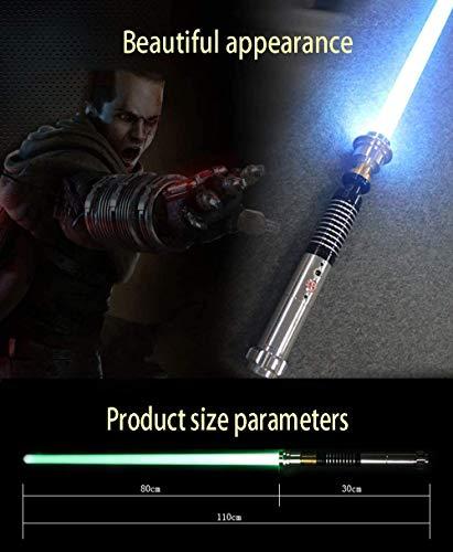 NANDAN Star Wars Lightsaber Sword 11 RGB Color Cambio de Sonido FOC FOC Láser Sable FX Metal Handle Heavy Dueling 5 Sets Sound Lumious Toys Regalos