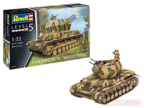 NEW REVELL RV03296 FLAKPANZER IV WIRBELWIND (2cm Flak 38) Kit 1:35 MODELLINO Model