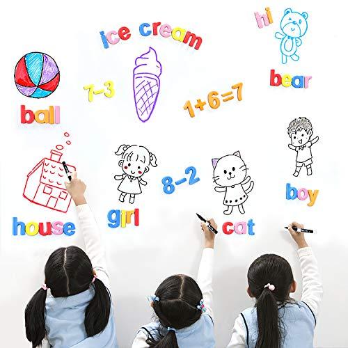 Números Magnéticos Imanes Letras Alfabeto Imanes Juguetes Magnéticos Incluye Mayúsculas, Minúsculas y Símbolos Matemáticos para Niños 78 Piezas