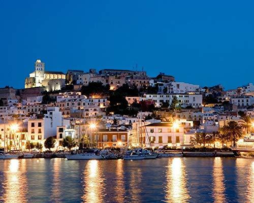 OKOUNOKO Rompecabezas para Adultos 1000 Piezas Isla De Ibiza Montaje De Madera Decoración para El Juego De Juguetes para El Hogar Juguete Educativo para Niños Y Adultos