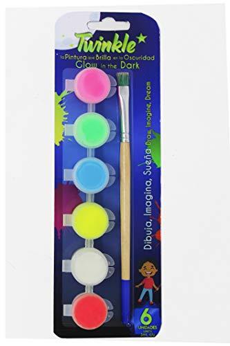 Pack de 6 témperas luminiscentes - TWINKLE (3ml)