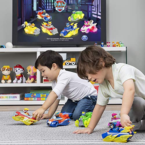PAW Patrol Mighty Pups Charged Up Chase - Vehículo de Lujo con Luces y Sonidos