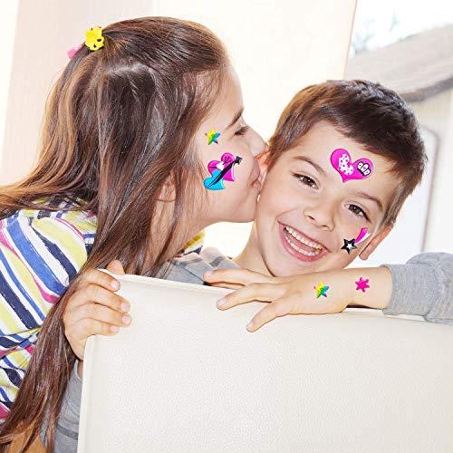 Pegatinas 3D para niños (Winnie the Pooh, Dora, SpongeBob, Thomas, Hallo Kitty, Schergen, Superman) cumpleaños para niños, obsequios, regalos para invitados, búsqueda del tesoro (500 + pegatinas)