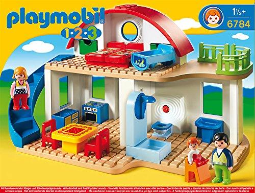 PLAYMOBIL 1.2.3- Suburban Home 1.2.3 casa Moderna, 39.9 x 30.0 x 15.0 (6784)