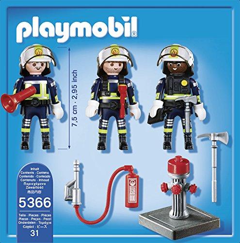 PLAYMOBIL Bomberos - Equipo de Figuras (5366)