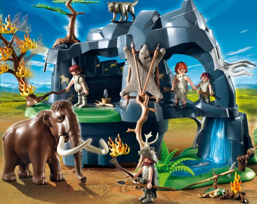 PLAYMOBIL - Cueva prehistórica con mamuts, Set de Juego (5100)