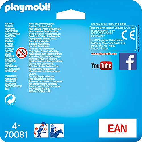 PLAYMOBIL- Duo Pack Duopack Bomberos, Color carbón (70081)