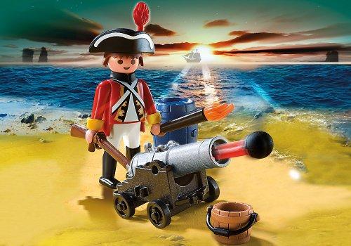 PLAYMOBIL - Soldado con cañón, Figura de Juguete (5141)