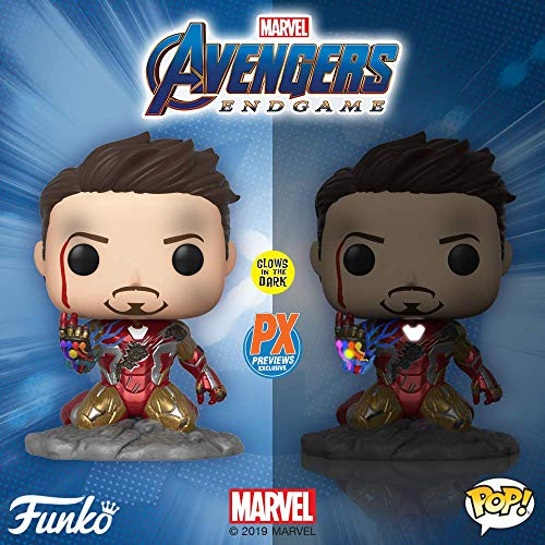Pop Avengers Endgame I Am Iron Man Glow in the Dark Vinyl Figure