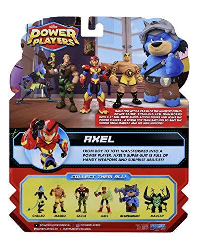 Power Players - Figura articulada 12 cm, Axel, 10 Puntos de articulación y Accesorios, Juguete para niños a Partir de 4 años, PWW013