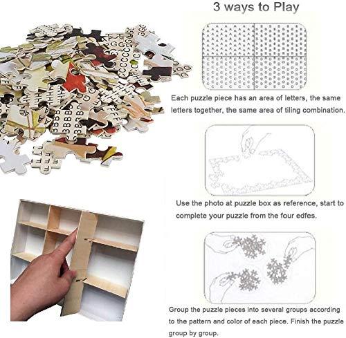 Puzzle 1.500 piezas, Rompecabezas de encastre de Madera, Puzzle Panorama, Obra de Arte de Juego de Rompecabezas para Adultos, Detective cabeza de perro