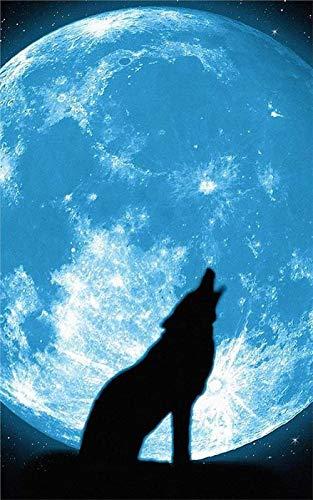 Puzzles 3D Piezas Puzzles Rompecabezas De 500 Piezas Imprimir Rompecabezas Lobo Bajo La Luna Rompecabezas Para Adultos Y Niños Rompecabezas De Madera Juegos Interactivos Para La Familia Grandes Vacac