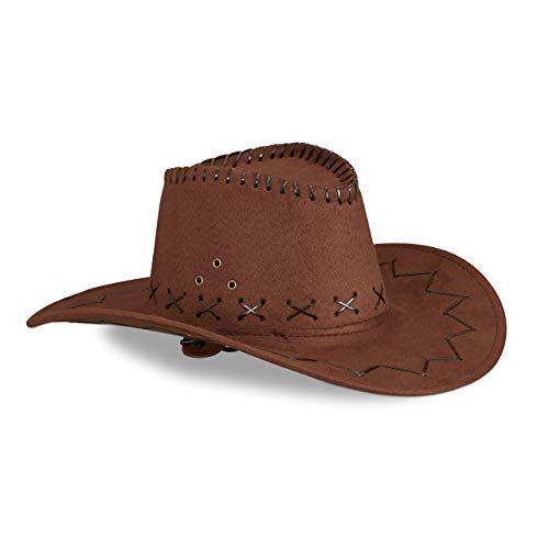 Relaxdays Sombrero Vaquero, Color marrón oscuro 16 X 35.5 X 39 Cm 10024992_746 , color/modelo surtido