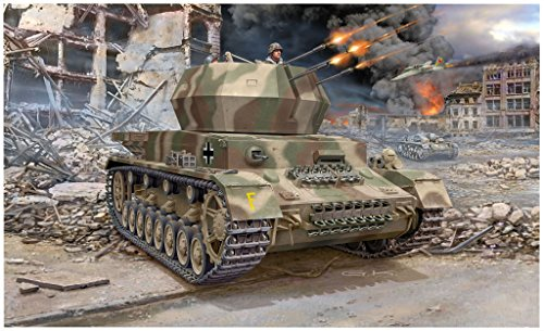 Revell -Maqueta de Tanque Flakpanzer IV Wirbelwind (2 cm Flak 38), Kit Modelo, Escala 1: 72 (03267)