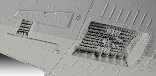 Revell Wars, Imperial Star Destroyer-Technik, con luz y Sonido, Escala 1:2700 Kit di modellismo, Color Blanco (00456)