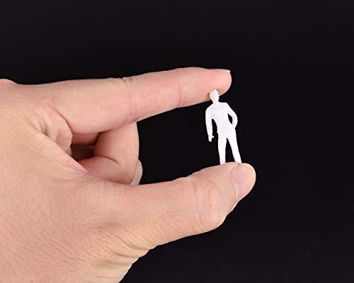 SCSpecial Figuras sin Pintar a Escala 1:50 100 Piezas Surtido de Poses Personas en Miniatura para Proyecto de diseño arquitectónico Escala Maquetas de Trenes ferroviarios Bonsai Decoración del hogar