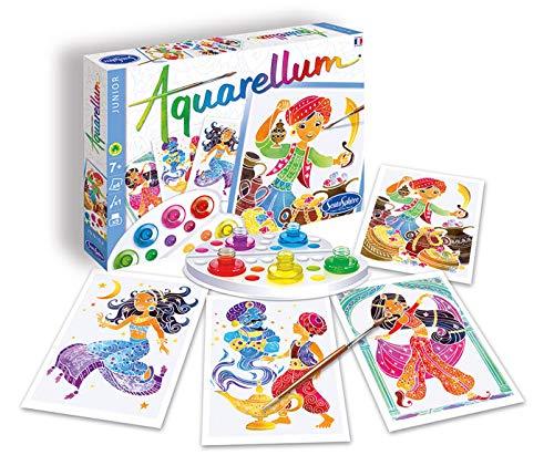 Sentosphere 3906510 Aquarellum Junior - Juego de pintura para niños, aladin, kit de manualidades, kit creativo
