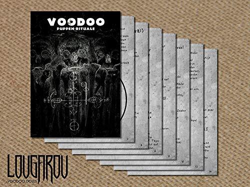 Set de muñeco de vudú con aguja de vudú e instrucciones de ritual (idioma español no garantizado)