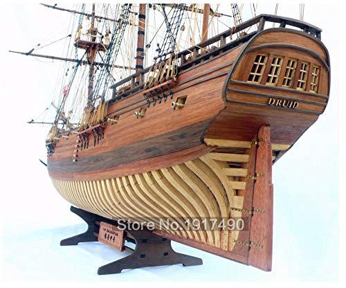 SIourso Maquetas De Barcos De Madera Modelos De Barcos De Madera Kits De Juguetes Educativos Tren Hobby Modelo Barcos Madera 3D Corte Láser Escala 1/32 HMS Druida 1776 16 Cañón Fragata