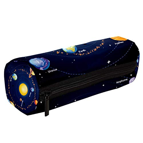 Sistema Solar Space Galaxy Planets Estuche para lápices con cremallera, organizador de monedas, bolsa de papelería, bolsa de maquillaje, bolsa de cosméticos para mujeres, adolescentes, niñas y niños