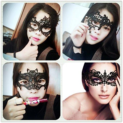 sky tears Encaje Máscara de Mascarada Veneciano Antifaz para Halloween Mascarada Carnaval Fiesta de Baile